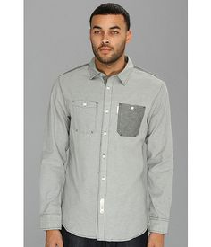 Marc Ecko Cut & Sew Utility Oxford L/S Woven Shirt