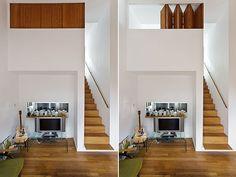 Small mezzanine area, love the folding shutters.