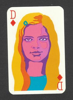 France Gall playing card (1960s)