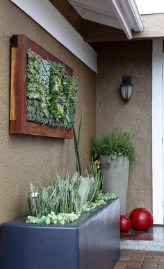 Curb appeal front yard landscape design idea