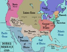 North America after a much different colonization. (1895) By Alternate Cartography