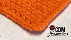 Washcloth Series: Moss Stitch Crochet Washcloth