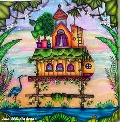 Do livro Selva Mágica! Sou apaixonada por esse livro! #johannabasford #magicaljunglebooks #magicaljungle #selvamagica #editorasextante #colorindolivrostop #boracolorirtop #desenhoscolorir #prazeremcolorir #arteterapia #divasdasartes #artecomoterapia #arte_e_colorir #florestaencantada2 #coloringbooks