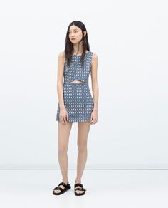 Image 1 of CUT-OUT PRINTED JUMPSUIT from Zara