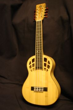 All bamboo tenor eight string uke.