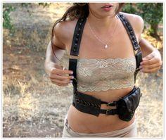 creamy touch Leather gypsy festival belt by LilaTribalAccessorie, $270.00