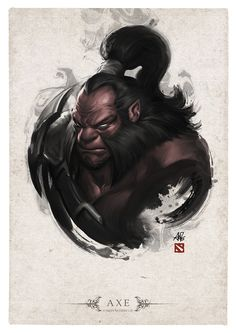 AXE Portrait by Artgerm.deviantart.com on @deviantART  Love the integration using Chinese painting style and western portrait drawing!