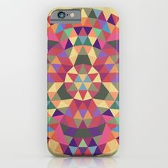 Tribal triangle mandala iPhone & iPod Case