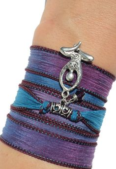 Goddess Silk Wrap Bracelet Yoga Jewelry Summer Meditating Spiritual Fertility Unique Gift For New Expecting Mom Mother Under 30 Item V40 on Etsy, $27.95