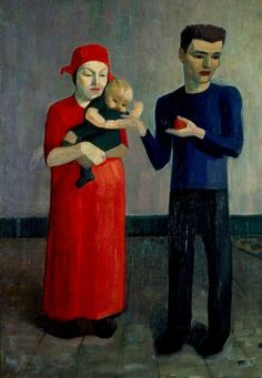 Family Group by Mark Gertler (British 1891‑1939)