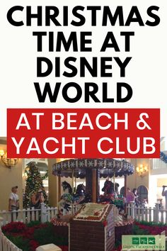 Why to book a stay at Disney's Beach & Yacht Club at Walt Disney World in Orlando, Florida: beautiful Carousel & train decorations, holiday treats, paint. Christmas Events, Christmas Travel, Holiday Travel, Christmas Holiday, Best Family Vacations, Family Vacation Destinations, Vacation Deals, Christmas Activities For Families, Beach Club Resort