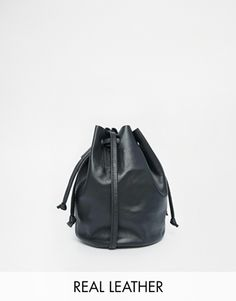 ASOS Leather Mini Duffle Cross Body Bag