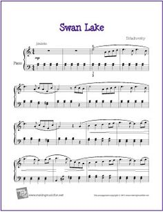 Swan Lake (Intermediate) | Free Sheet Music for Piano (Scheduled via TrafficWonker.com)