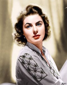 Ingrid Bergman - colorized