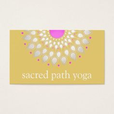 Beautiful Lotus Mandala Wellness The Alternative Health Flower Business Cards
