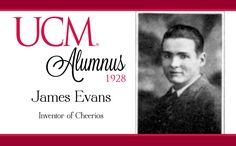 James Evans, Class of 1928, Inventor of Cheerios