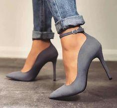 grey heels buckle The post yessssss. grey heels buckle 2019 appeared first on Denim Diy. Grey Heels, Pumps Heels, Stiletto Heels, Stilettos, Navy Blue Strappy Heels, High Heel Pumps, Dream Shoes, Crazy Shoes, Crazy High Heels