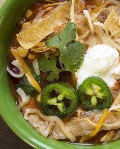 Skinny Crock Pot Chicken Tortilla Soup