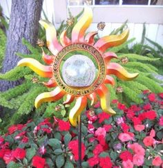 Solar Garden Powered Yard Led Light Stake Decor Outdoor Color Lawn Shining Sun
