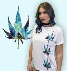 Each Stacked Weed shirt is individually produced to order. Based on a tiny crystal created from cannabis ash. We put the crystal image inside a cannabis leaf silhouette and designed this shirt using the results. The three leaf design appears on the front and back. #Cannabis #Weed #Clothing #Design