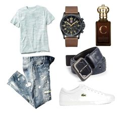 """Untitled #6"" by witapranata-1 on Polyvore featuring Old Navy, Lacoste, Luminox, Clive Christian, Bottega Veneta, mens, men, men's wear, mens wear and male"