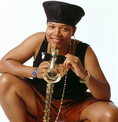 Queen Latifah photographed by Janette Beckman, 1990.