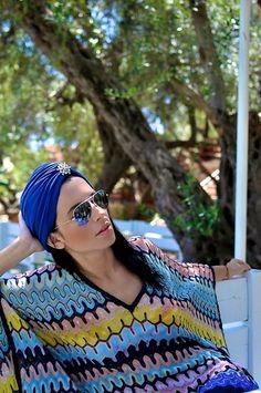 Missoni Kaftan. Vintage head wrap | turban