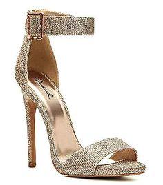 Glee-77 Glitter Champagne Silver Open toe Sandal Stiletto Heels Party shoes $35.99