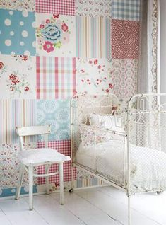 Creative wall design trends bring modern wall decor ideas, inspired by timeless patchwork fabric patterns. Wall design trends for 2012 offer contemporary patchwork wallpaper designs and wall painting
