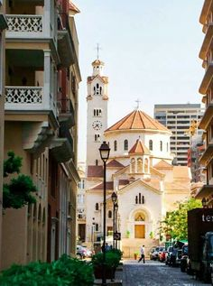 """Armenian Catholic Church in Beirut, Lebanon"" Lebanon Culture, Places Around The World, Around The Worlds, Beirut Lebanon, Cool Countries, United Arab Emirates, Beautiful Places To Visit, Beautiful Architecture, Best Cities"