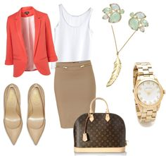 """""""Professional Attire"""" by joanna-tsikis on Polyvore., minus the LV bag, cause they're a little showy"""