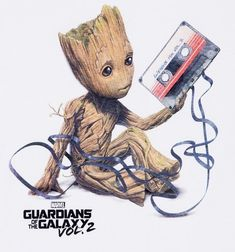 Shop Groot T-Shirts, Gifts and Merch Women's White Baby Groot And Cassette Guardians Of The Galaxy T-Shirt<br> Baby Must Haves, Marvel Art, Marvel Comics, Baby Groot Tattoo, Galaxy Drawings, Marvel Paintings, Guardians Of The Galaxy Vol 2, Marvel Tattoos, Galaxy T Shirt