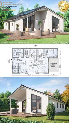 Narrow House Plans, Small House Floor Plans, Bungalow House Plans, Bungalow House Design, House Front Design, Modern Small House Design, Classic House Design, Modern Architecture House, Roof Architecture