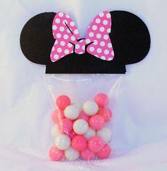Minnie Mouse faveur parti sacs avec Rose POLKA par pinchmycheeks