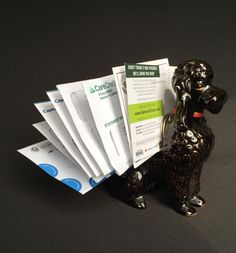 Mid Century Wales Poodle Letter Holder by TTLGFurnishings on Etsy