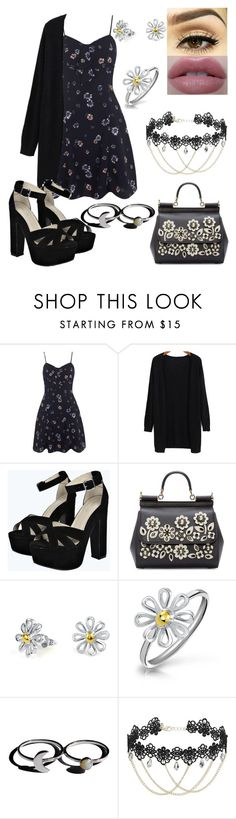 """""""#68"""" by louiseeleanorbee ❤ liked on Polyvore featuring Miss Selfridge, Boohoo, Dolce&Gabbana and Bling Jewelry"""