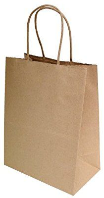 """50 Pcs Mechandise Shopping 8/""""X4.75/""""X10/"""" Party, White Kraft Paper Bags"""