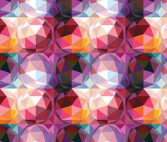 Geodesic dome pattern fabric by camcreative on Spoonflower - custom fabric