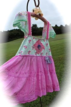 Romantic Rodeo Sweetheart Babydoll Top/Dress Roses Crochet Work Shabby Chic Cowgirl Gypsy Girl Mori Girl Flirty Girl by IzzyRoo on Etsy