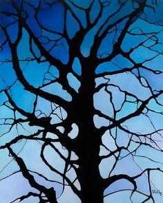 Shelly Pamensky: Gallery: Mosaics: Blue tree with heart