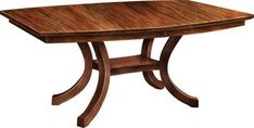 Amish Extended Carlisle Shaker Table The Carlisle shows off some contemporary curves. Solid wood dining table custom built in choice of wood and stain. A stunning look for the dining room, a durable table that will stay in your family for generations. #diningtables