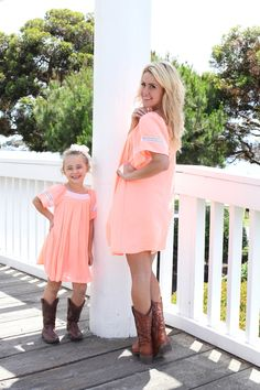 Southern Belle Shift Dress in Coral - Be Inspired Boutique