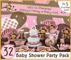 Celebrate the new little monkey in your life with a fun little monkey baby shower theme. Here are ideas for decorations, the cake, favors, baby gifts and lots more.