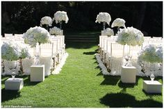 ceremony pedestals.