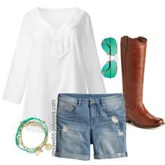 "#plus #size #plussize #festival #fashion ""Plus Size - Boho Boots"" by alexawebb on Polyvore"
