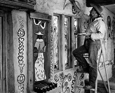 """DeGrazia built the Mission in the Sun in honor of Our Lady of Guadalupe calling the mission his most durable and important piece of art. """"The mission will have no functional purpose. It will be a place of beauty where I can go and hide."""" Happy Throwback Thursday! #NationalHistoricDistrict #DeGrazia #Artist #Ettore #Ted #GalleryInTheSun #Adobe #Architecture #Tucson #Arizona #AZ #Catalinas #Desert #MissionInTheSun #Murals #Guadalupe #PadreKino #Frescoes #Throwback #Thursday #TBT"""