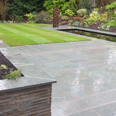 slate chips create a modest pathway slate chips are one of