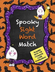 FREE! I made this engaging Halloween-themed game to provide my kinders with more sight word practice. It includes the pre-primer Dolch sight words, as well as an EDITABLE page so you can add your own words!  There is also a directions page for the matching game, although the cards could be used to play Go Fish or other games, as well.