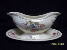 Crown Ducal Glendale Red Roses Flowers Gold Trim Damaged England