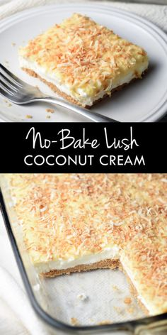 This No-Bake Coconut Cream Lush Dessert is smooth, rich, light, and there's no cooking involved. It comes together super-fast; the hardest part is waiting for it to chill!We had a fairly big group of friends...